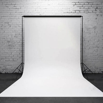 10ft Pure White Photography Wall Backdrop Studio Photo Props Vinyl Background KZ