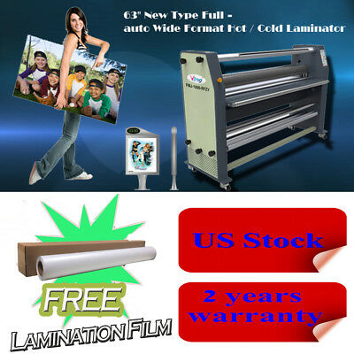 "USA 63"" 110V Full - auto Wide Format Laminator Hot / Cold Laminating Machine"