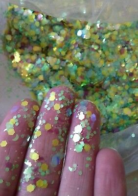 Chunky body Glitter mixes with moons, 5g Bag, Face/Body,nails, Festival, club