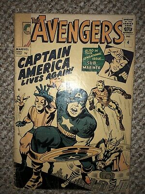 Avengers 4 First Silver Age Appearance of Captain America.