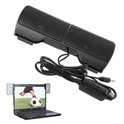 Mini USB-Powered Line Control Stereo Clip-On Speaker For Laptop Notebook HotSale
