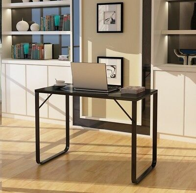 Home Office Desk metal Computer PC Table WorkStation Study Glass Flat Writing UK