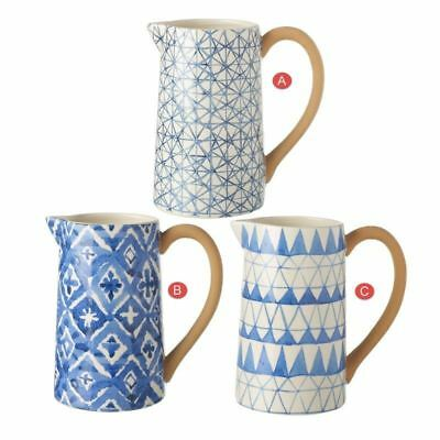 Decorative Blue Patterned Ceramic Jug Each Sold Individually