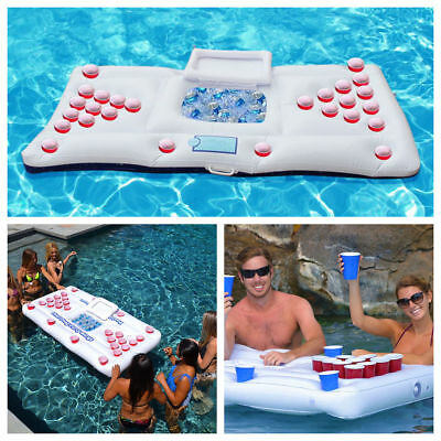 Inflatable Beer Pong Table Pools Drink Cooler Floating Game Raft Lounge 180CM