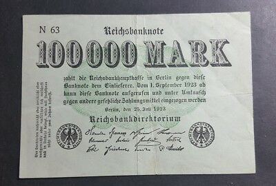 Germany 100,000 Mark 1923
