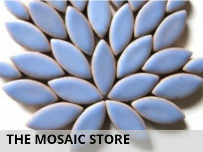 Cornflower Blue Ceramic Petals | Mosaic Tiles Supplies Art Craft