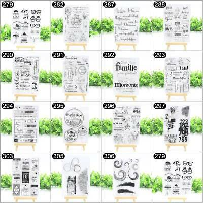 Scrapbooking DIY Stamp Craft Transparent Silicone Clear Rubber Stamp Sheet Cling
