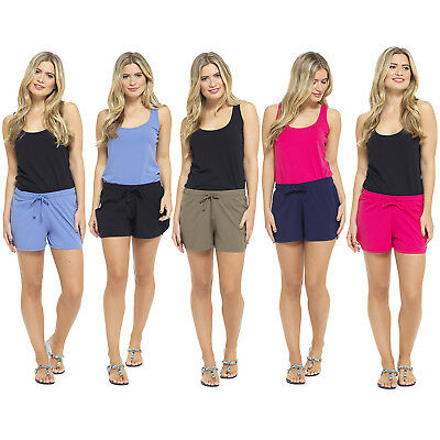 Ladies Jersey Cotton Shorts Women Comfort Casual Cool Summer Holiday Beach Pant