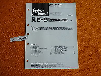 SERVICE MANUAL PIONEER KE 91zbm 02 english Schaltplan BMW Oldtimer ...
