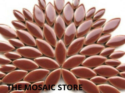 Brown Ceramic Petals / Leaves - Mosaic Tiles Supplies Art Craft