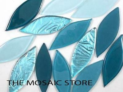 Teal Mix Glass Petals - Mosaic Tiles Art Craft Supplies