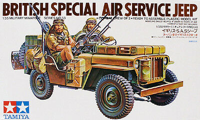 Tamiya 35033 1/35 Scale Model Kit British SAS Special Air Service Jeep CA133