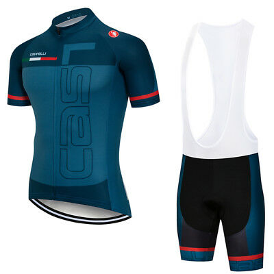 2018 Men's Road Bike Kit Short Sleeve Cycling Jersey and Bib Shorts Set S-3XL