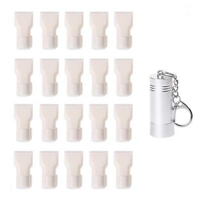 20 Pcs White Secure Slatwall Hook Lock Anti Sweep & 1 Pc Unlocker