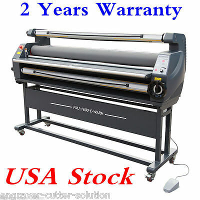 "USA! AC110V 63"" Entry Auto Cold Laminator Heat Assisted Wide Format Laminator"