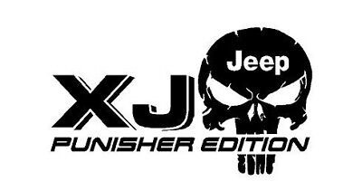 TRUCK CAR DECAL - (2) JK JEEP Punisher EDITION - Vinyl decal