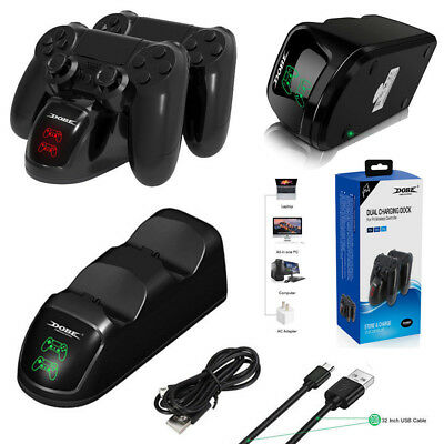 Fast Charger Station for PlayStation 4 Charging Dock Controller PS4/Pro/ Slim