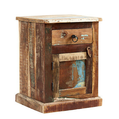 Bedside Table with 1 Drawer&Door Reclaim Range made from Recycled Hardwood CS21