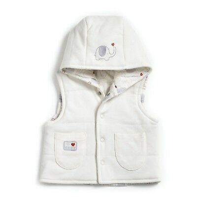 Natures Purest Cream 1st Friends Girls Padded Gilet 0-3 Months  (0141A)