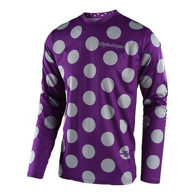 GP Jersey Polka Dot Purple/Grey (Size:M/L/XL2XL/)2018 MOTOCROSS GEAR SALE!