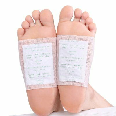 10pcs Detox Foot Patches Pads Body Toxins Feet Slimming Cleansing Herbal Health