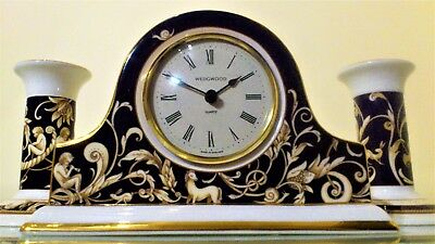 Tradition English Style Wedgwood Mantel Clock Garniture.