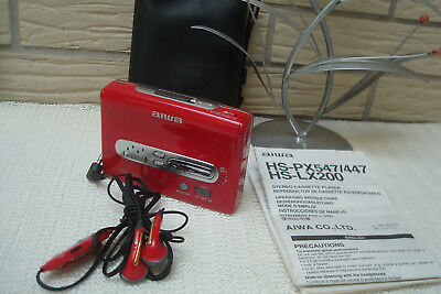 Aiwa HS-LX200  Ladies Collection M2 Walkman in Ferrari Rot.
