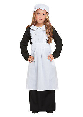Victorian Poor Girl Kids Dressing Up Book Week Costume Fancy Dress Girls 4-12