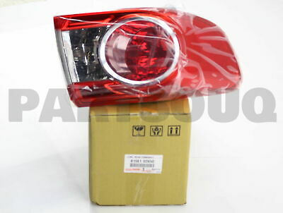 8156102650 Genuine Toyota LENS & BODY, REAR COMBINATION LAMP, LH 81561-02650