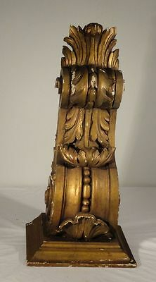 Antique Carved Wood Corbel Decorative Shelf Victorian Gilt Gesso