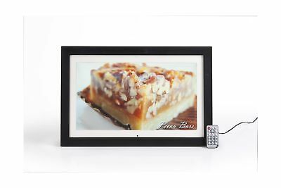 Displays2go DPFLSBK19A 18.5-Inch Matted Digital Photo Frame, LCD Screen, 16:9...