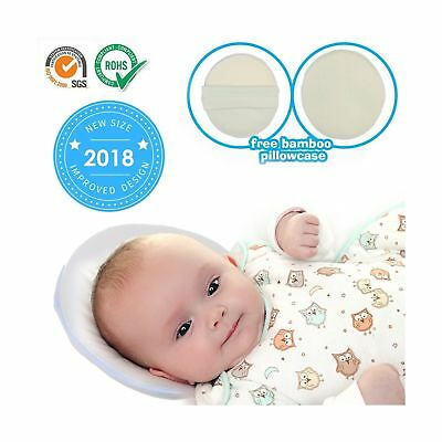"""8.6"""" Baby Pillow Infant Head Neck Support to Prevent Flat Head Plagiocephaly ..."""