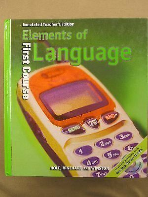 Holt elements of language teacher edition first course grade 7 2001 elements of language grade 11 by rinehart and winston staff holt mint fandeluxe Choice Image