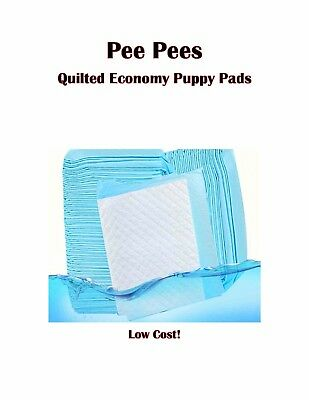 "23x36"" Pee Pee's 4-Ply Quilted Economy Puppy Dog Pee Pee Piddle Training Pads"