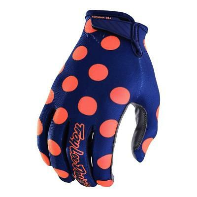 TLD Youth Air Glove Polka Dot Nvy/Orange(Size:S/M)2018 MOTOCROSS GEAR SALE!