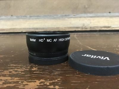 Vivitar HD4 MC AF High Definition 0.43X Wide Angle Converter W/Macro Japan Optic