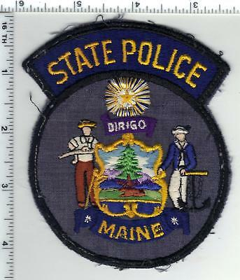State Police (Maine) Uniform Take-Off Shoulder Patch from the 1970's