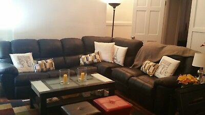 Prime Black Leather Reclining Sofa Sectional Drop Down Table Pull Onthecornerstone Fun Painted Chair Ideas Images Onthecornerstoneorg