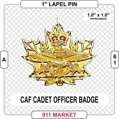 """Cadet Officer 1"""" Lapel Pin Canadian Forces CAF Cap Badge Army Sea Air FAC - A 61"""