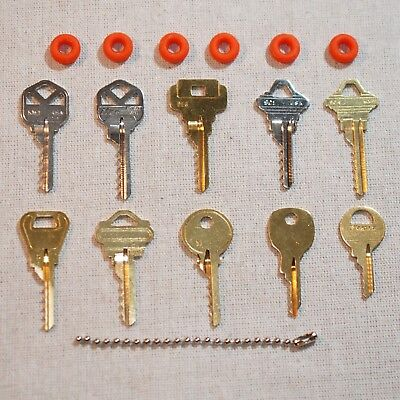 Professional 10 key Depth Key Set with bump rings...