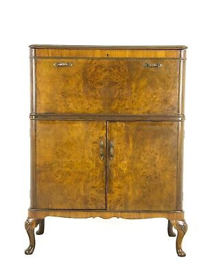 Drinks Cabinet, Antique Dry Bar, Cocktail Cabinet, Walnut Cabinet, 1930s, B1113