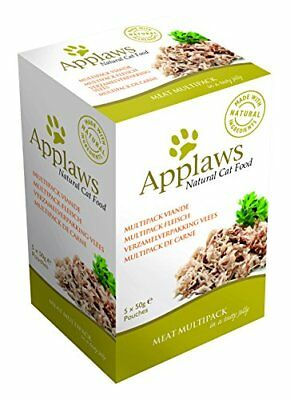 Applaws Cat Food Jelly Pouch Multipack Meat Selection, 5x50g, Pack of 4