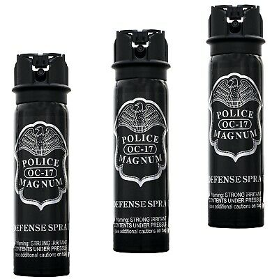 3 PACK Police Magnum pepper spray 4oz Flip Top Defense Security Protection