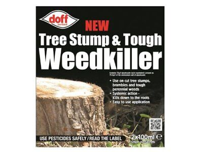 Doff 100ml Tree Stump and Tough Weedkiller Pack of 2 Sachets