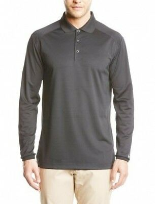 (Small, Black/White) - Nike Golf Men's UV Victory Longsleeve Polo. Free Delivery
