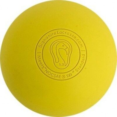 (12 Balls, Yellow) - Signature Lacrosse Balls - Many Colours and Quantities -