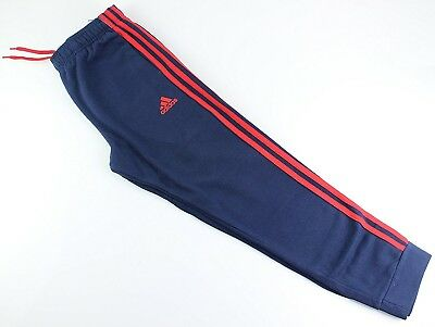 (Youth Xlarge 18/20, Fleece Tapered Hem Sweatpants, Navy/Red) - adidas Youth