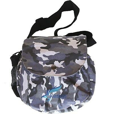 (Gray Camo) - Kestrel Disc Golf Bag | Fits 6-10 Discs + Bottle | For Beginner