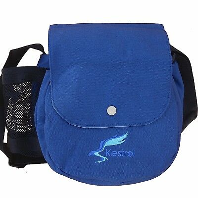 (Blue) - Kestrel Disc Golf Bag | Fits 6-10 Discs + Bottle | For Beginner and