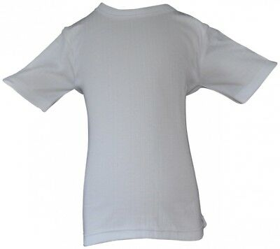 (6-8 YEARS) - Boys Brushed Thermal Short Sleeve Vest Top White. WOH. Brand New